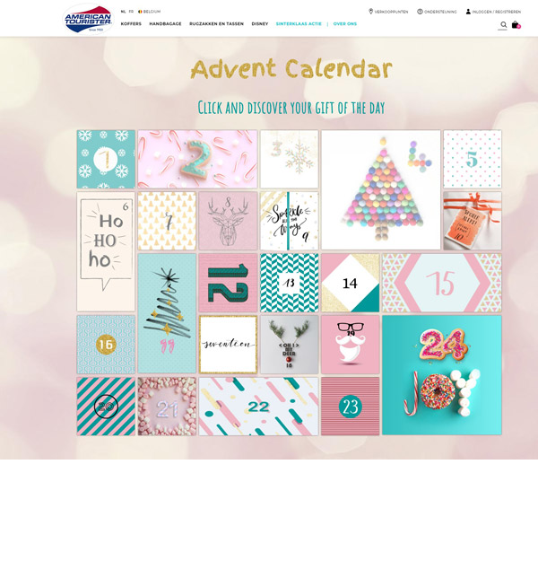 American Tourister advent calendar